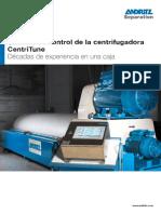 Sistema de control de la centrifugadora