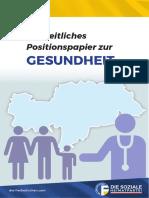 Freiheitliches Positionspapier | Gesundheit