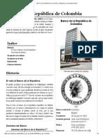 Banco de La República de Colombia - Wikipedia, La Enciclopedia Libre
