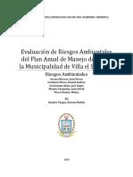 Evaluación de Riesgos Ambientales Del Manejo de R.S de La Municipalidad de Villa El Salvador