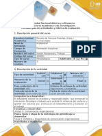 Guía de Actividades y Rubrica de Evaluación Tarea 3-Relatoria y Diagnóstico de Comunicación Organizacional