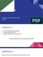 """Módulo III """"Gestiona Información mediante software en linea"""""""