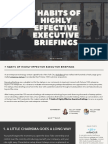 7 Habits of Highly Effective Executive Briefings