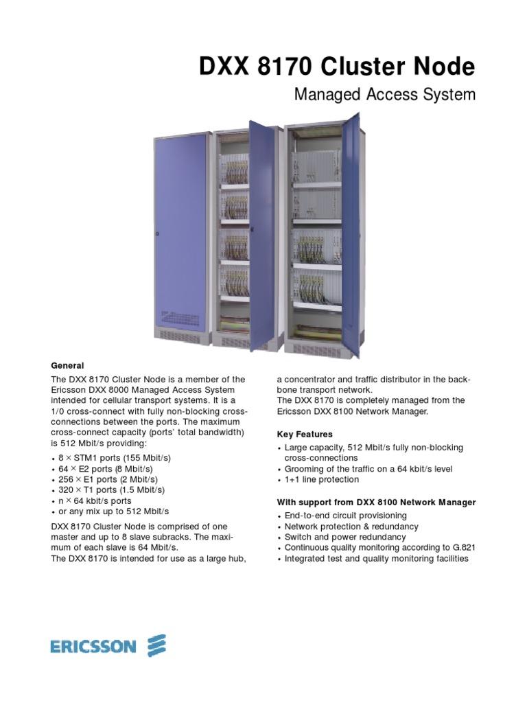 DXX 8170 Cluster Node | Networks | Telecommunications Standards