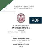 Informe N°4de Procesos defromacion plastica