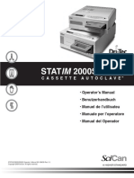 SciCan StatIm-2000S-5000S Cassette Autoclave - User Manual (en,De,Fr,It,Es)