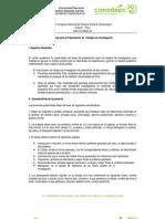 Bases para la Presentación de Trabajos de Investigación | Conadepc 2010