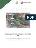Apoyo a La Implementación de la Agricultura Familiar Urbana y Periurbana en El Departamento de Pando. Para la Agricultura Urbana y Perirurbana de Pando (Amazonía), Bolivia
