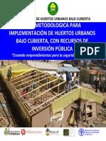 Manual Construccion de Carpas Solares - Para la Agricultura Urbana y Perirurbana de Sucre, Bolivia