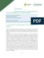 Ficha. El Trabajo Con Fuentes Historicas y La Enseñanza de Las Cs. Soc. 2018