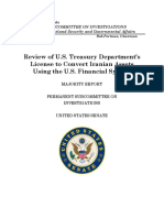 Review of U.S. Treasury Department's License to Convert Iranian Assets Using the U.S. Financial System 6-6-2018