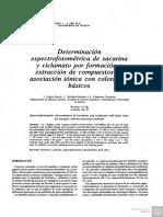 Determinación Espectrofotométrica de Sacarina y Ciclamato