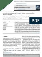 Projeto Experimental Fatorial Para Aumentar a Produção de Metano Na Digestão de Resíduos Lácteos