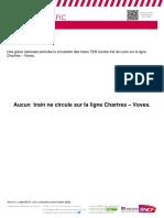 Info Trafic Chartres Voves Des 07 Et 08.06.2018 Aucun Train