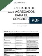 Tema 04 - Propiedades de Los Agregados Para El Concreto