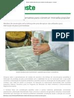 Estudo Viabiliza Alternativa Para Construir Moradia Popular - Unoeste