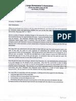 Key Largo Subdivision HOA Letter to Residents