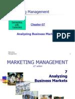CH 07 Analyzing Business Markets