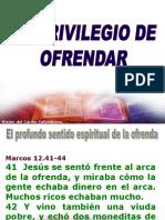 El Privilerio de Ofrendar2.Ppt