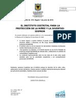 Comunicado de Prensa 010 - IDIPRON
