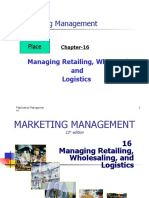 Retailing, Wholesaling and Logistics