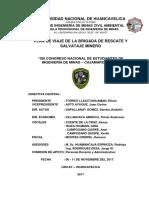Plan de Viaje Cajamarca 2017 Brsm