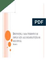 1. Definitie, Caracteristici Si Implicatii Ale Dizabilitatilor Multiple [Compatibility Mode] LUNI