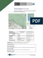 Boletin Sismico 157 2013