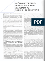 SIG y Evaluación Multicriterio Propuesta Metodológica