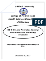 OB & Gy and Neonatal Nursing Procedures for Fourth Year Students - Copy (1)
