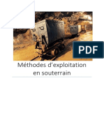 Méthodes d'Exploitation Minière souterraines