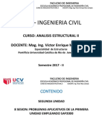 Octava Sesion Analisis Estruc II - Ucv