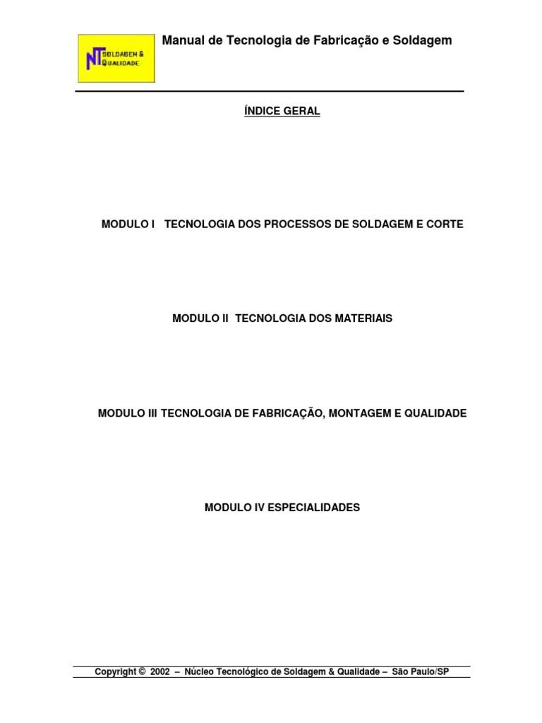 c94e71941cd Manual de Processos de Soldagem.pdf