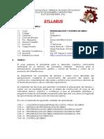 Syllabus-prog y Control de Obras-2018-i