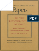Ivins (1938) - On the Rationalization of Sight, With and Examination of Three Renaissance Texts on Perspective A