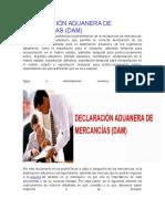 Declaracion Aduanera de Mercancias -DAM