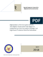 SIGAR Audit Of Afghanistan's Anti-Corruption Efforts