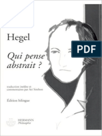 Hegel-Qui Pense Abstrait