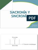 Diacronía y Sincronía
