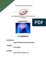 Monografia La Memoria