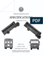 1996 Texas School Bus Specifications 1 of 2