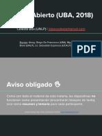 Datos Abiertos (UIVii) - Estado Abierto (UBA, 2018)