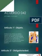 Acuerdo 042