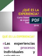 Qué Es La Experiencia (2)