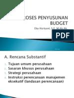 Proses Penyusunan Budget