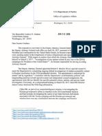 DOJ Letter to Graham on Rosenstein recusal