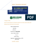Equity Investment and Economic growth of India & Market stratrgies of Religare