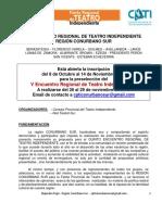 2015 Bases y Reglamento v Encuentro Regional-conurbano Sur -