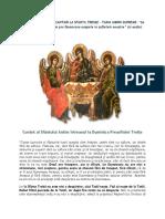 Cuvânt Al Sfântului Antim Ivireanul La Duminica Preasfintei Troițe