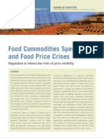 Food Commodities Speculation and Food Price Crises